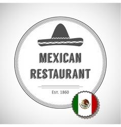 Mexican restaurant logo vector image