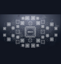 modern background with futuristic user interface vector image vector image