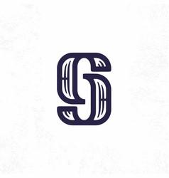 Modern professional sign logo gj monogram vector