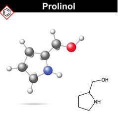 Proninol amino alcohol chmical structure vector image vector image