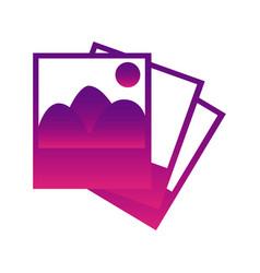 purple pictures photos icon vector image vector image