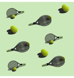 Seamless pattern tennis vector