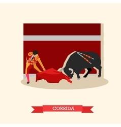 Spain corrida concept bull vector