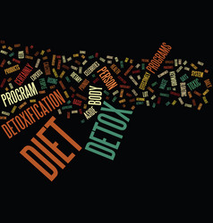 The detox diet text background word cloud concept vector