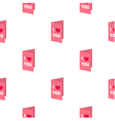 valentines day card pattern seamless vector image