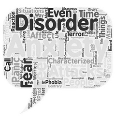 What you should know about anxiety disorders text vector