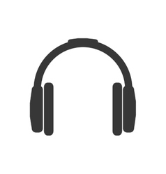 Headphone music sound melody icon graphic vector