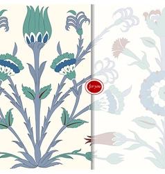 Traditional arabic motif postcard vector