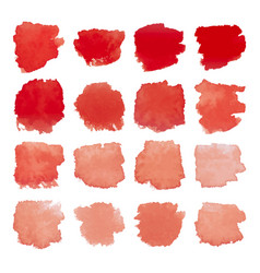 Red blots watercolor set vector