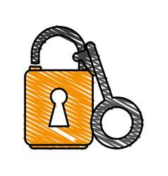 Unlocked padlock accessory vector