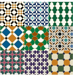 seamless moroccan islamic tile pattern vector image