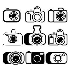 camera set symbols vector image