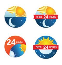 24-hours vector