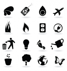 eco icon set vector image