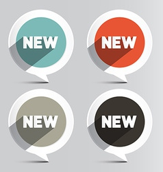 Circle New Labels Set vector image