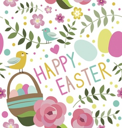 Happy easter seamless print vector
