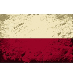 Polish flag grunge background vector