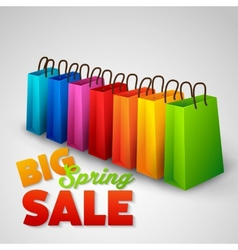 Big spring sale poster vector
