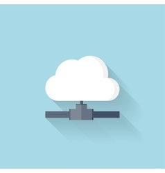 Flat web icon cloud computing net vector