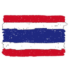 Flag of thailand handmade vector