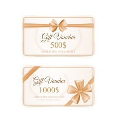 Elegant gift cards set vector