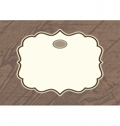 Wood background frame vector