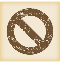 Grungy no icon vector