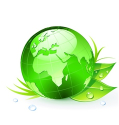 Green planet earth vector