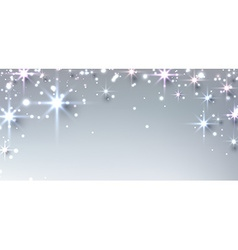Winter starry christmas banner vector