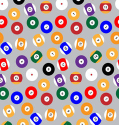 Seamless pattern snooker billiard balls vector