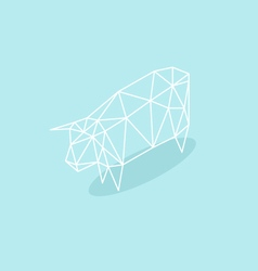Cow triangle abstract isolated vector
