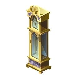 Vintage yellow grandfather clock isolated vector