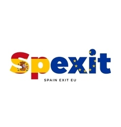 Spexit - spain exit from european union on vector