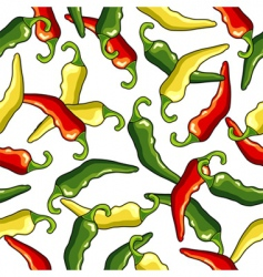 chili peppers seamless pattern vector image vector image