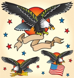 eagle tattoos vector image vector image