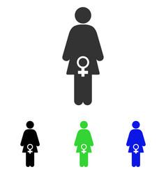 Female fertility flat icon vector
