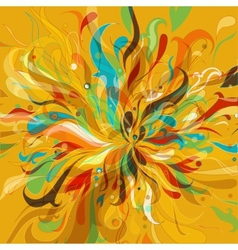 Floral and ornamental background vector image vector image