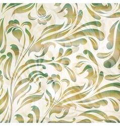 Floral retro vintage wallpaper vector