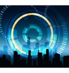 Futuristic city background vector