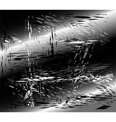 Grunge metal black background vector