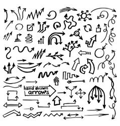 Hand drawn simple arrows vector image vector image