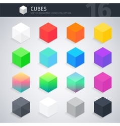 Isometric cubes collection vector