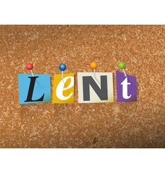 Lent concept vector