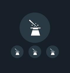 magician hat icon party vector image vector image