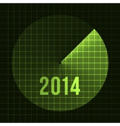 New Year Background Sonar 2014 Card template for vector image vector image