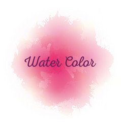 Pink watercolor art paint vector