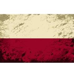 Polish flag grunge background vector