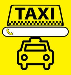 sticker logo or icon taxi service vector image vector image