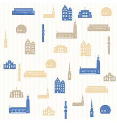 Stockholm seamless pattern vector image vector image