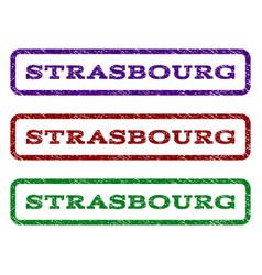 Strasbourg watermark stamp vector